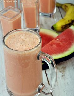 Tropical Watermelon Smoothie ( Burgers and Smoothie Recipe)