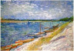 Moored Boats by Vincent Van Gogh Handmade oil painting reproduction on canvas for sale,We can offer Framed art,Wall Art,Gallery Wrap and Stretched Canvas,Choose from multiple sizes and frames at discount price. Vincent Van Gogh, Art Van, Fine Art Photo, Photo Art, Van Gogh Arte, Van Gogh Landscapes, Boat Painting, Basic Painting, Boat Art