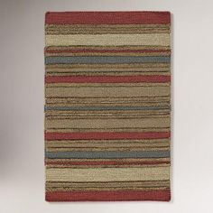 One of my favorite discoveries at WorldMarket.com: Chunky Stripe Kilim Wool Rug