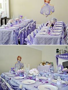 Sofia the First Party Ideas - we love the royal place settings! #sofiathefirst #partyidea #kidsparty