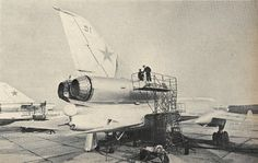 A Soviet Air Force undergoing maintenance Military Jets, Military Aircraft, Russian Bombers, Russian Jet, Warsaw Pact, Aircraft Maintenance, Air Force, Fighter Jets, Aviation