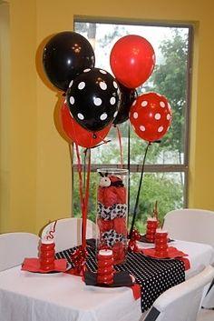"Photo 3 of Ladybug / Birthday ""Catherine's Birthday Ladybug party"" Second Birthday Ideas, 3rd Birthday Parties, Fabulous Birthday, Ladybug Centerpieces, Ladybug Decor, Polka Dot Birthday, Birthday Supplies, Minnie Mouse Party, Balloons"