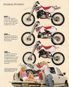 1990 KTM MX Bikes