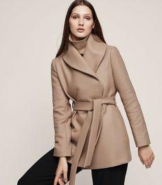 Meena Wrap Collar Short Coat