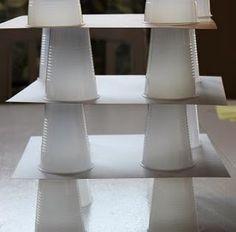 super easy tot box idea: build a cup tower!
