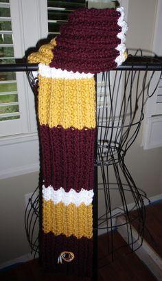 Redskins Afghan Pattern Crochet Redskins Blanket