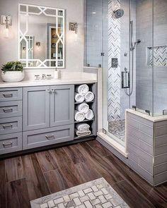 Impressive 36 Inspiring Small Farmhouse Bathroom Design Ideas
