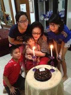 Mam's birthday with grandkids