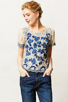 wildflower lace tee / anthropologie