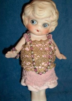 vintage bisque flapper doll