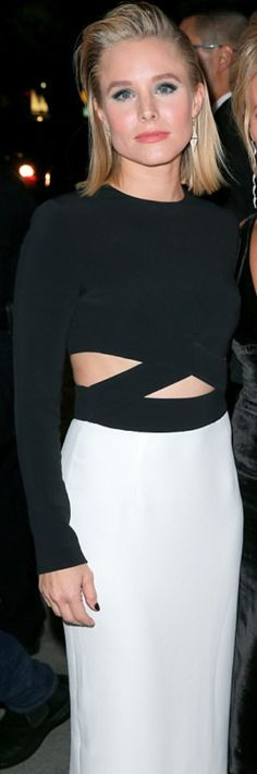 Kristen Bell wearing Jennifer Meyer and MICHAEL Michael Kors