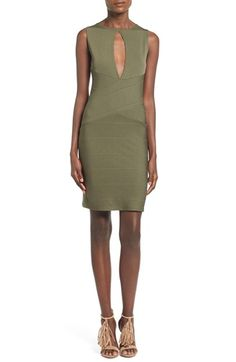 Missguided Keyhole Bandage Body-Con Dress available at #Nordstrom