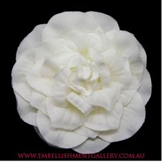 Embellishment Gallery supplies flowers for all types of embellishments. Get creative with our flower embellishments which are common with cake decorations, headband pieces, D.I.Y invitations, centre pieces, wedding dresses, you name it!