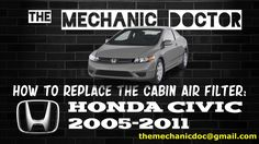 This video will show you step by step instructions on how to replace the cabin air filter on a Honda Civic 2005-2011.