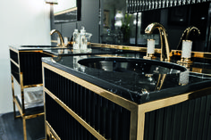 Academy collection of luxury bathroom furniture, designed by Massimiliano Raggi for Oasis bathroom.
