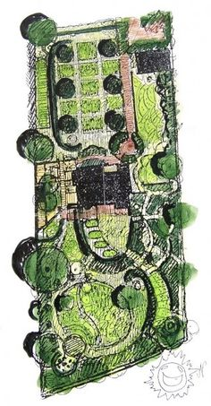 Good site with many tips for a garden designer Watercolor by Per Friberg over his own garden in Bjärred, Skåne. Landscape Plane, Landscape Concept, House Landscape, Landscape Drawings, Landscape Architecture, Landscape Design, Garden Design Plans, Patio Design, Eco Garden