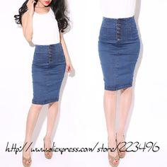 high waist jeans skirt mslove vintage