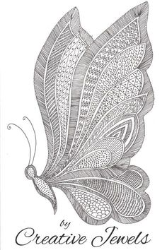 Zentangle art butterfly drawing easy tutorial for beginners Pencil Drawings For Beginners, Doodle Art For Beginners, Drawing Tutorials For Beginners, Pencil Drawing Tutorials, Pencil Art Drawings, Zentangle For Beginners, Drawing Sketches, Pencil Sketching, Beginner Art