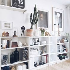 hink I just found a new shelfing system. Sunday is for Internet shopping right? Not sure yet if it's for my living room or my My Living Room, Home And Living, Living Room Decor, Living Spaces, Living Room Shelving, Modern Living, Dining Room, Home Interior, Scandinavian Interior