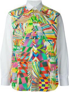 Comme Des Garçons Shirt Chemise À Imprimé Abstrait