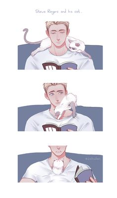 Steve Rogers and his cat