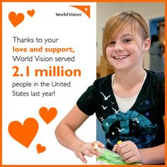22 percent of American children live in poverty. At World Vision, we focus our work in some of our nation's most distressed and under-served communities, where poverty is high and opportunities are limited. We also respond to disasters that occur right here in the United States.