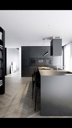 Astounding Tips: Minimalist Kitchen Cabinets Small Spaces minimalist home ideas bath.Modern Minimalist Living Room With Fireplace minimalist kitchen black and white.Minimalist Interior Photography Home. Kitchen Ikea, Home Decor Kitchen, Kitchen Flooring, Apartment Kitchen, Apartment Interior, Kitchen Wood, Kitchen Paint, Kitchen Furniture, Kitchen Storage