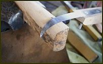 Feed the blade to the mallet slowly and evenly with rapid taps from your mallet.