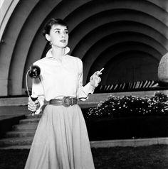 Audrey Hepburn, 1954 (at the Hollywood Bowl)