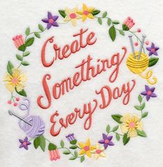 Create Something Every Day Wreath design (K8353) from www.Emblibrary.com
