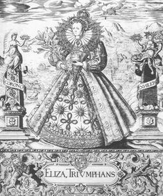 'Eliza Triumphans'. By William Rogers, 1589. This illustration celebrates England's defeat of the Spanish Armada.