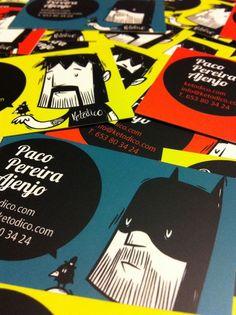 21 Tarjetas personales con estilo cartoon – Puerto Pixel | Recursos de Diseño