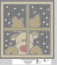 Rudolph Looking In The Window Wall Hanging Plastic Canvas Ornaments, Plastic Canvas Tissue Boxes, Plastic Canvas Crafts, Plastic Canvas Stitches, Plastic Canvas Patterns, Christmas Wall Hangings, Plastic Canvas Christmas, Needlepoint Patterns, Canvas Designs
