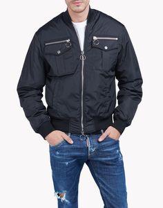 Zipped Pocket Bomber Jacket