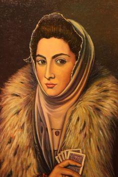 Interpretación de la Dama del Armiño-El Greco Mona Lisa, Deck, Princess Zelda, Artwork, Fictional Characters, Work Of Art, Auguste Rodin Artwork, Front Porches, Artworks