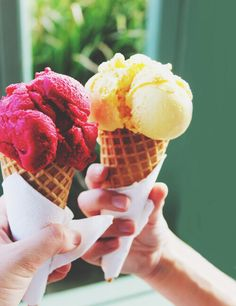 colors, dessert, fruit, ice cream, summer