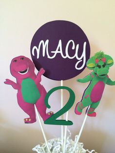 Barney centerpiece by PinkPaperCottage on Etsy, $10.00