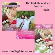 4* review from RT Book Reviews! The Marriage of Inconvenience by Nina Singh! This is a fun read! Singh's cheeky references to love are playful, and the storyline is sweet. The characters' banter is highly enjoyable, and readers will quickly flip through the pages to discover exactly what Angel will decide in the end. Some may root for her to go with her heart, but it's almost more satisfying to wish she would choose with her head instead…