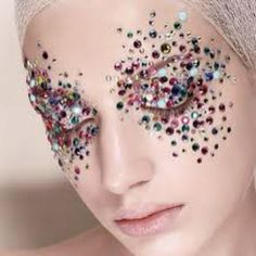 Reminds me of the crazy eye makeup I put on for shows in high school!