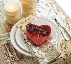 Love Letter Table Setting........Pottery Barn