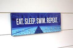 Swimming Medal Holder - Eat. Sleep. Swim. Repeat. - Medium - York Sign Shop - 1