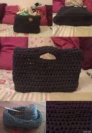 Resultado de imagem para purse crochet tshirt yarn