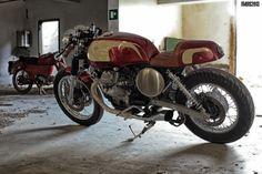 Guzzi Cafe Racer #CafeRacer #MotoGuzzi #TonUp
