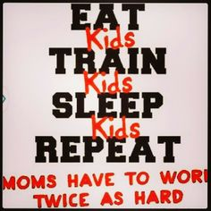In my case 3x as hard! #fitmom