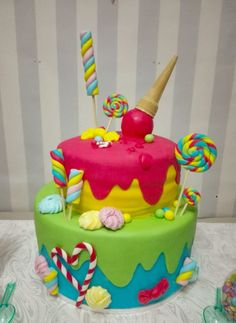 Candy Party, Cake Pops, Candy Sweet, Birthday Cake, Hobby, Desserts, Food, Wedding, Home