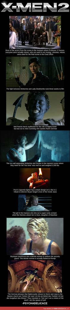 X-Men 2 Facts... I already knew the one about mystique but these are fairly interesting