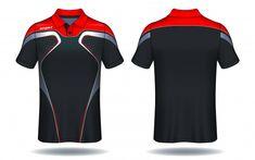 T-shirt polo design, modelo de camisa de esporte. Sport Shirt Design, Sports Jersey Design, Polo Design, 3d T Shirts, Sports Shirts, Cricket Dress, T Shirt Design Template, Corporate Wear, E Sport