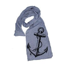 Vintage Anchor Scarf Gray, $16, now featured on Fab.
