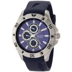 Nautica Men's NST-06 N14610G Blue Resin Quartz Watch with Blue Dial