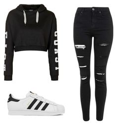 """East Coast"" by staybeautiful02 on Polyvore featuring Topshop, adidas, women's clothing, women, female, woman, misses and juniors"